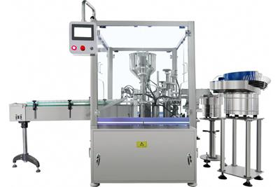 Volumetric Filling Line with Capping Machine, Eyeliner Packaging